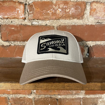 Summit and Sea Trucker Hat Inventory Summit and Sea Khaki/White