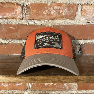 Summit and Sea Trucker Hat Inventory Summit and Sea Orange/Brown