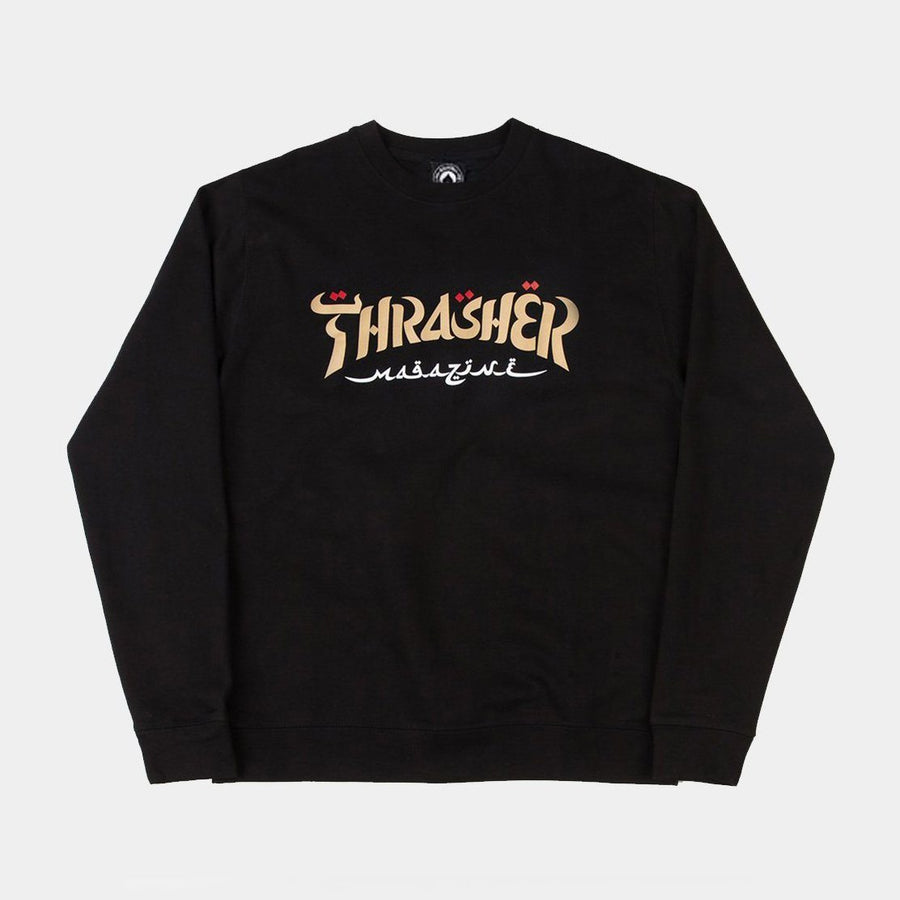 Thrasher Calligraphy Crewneck Sweatshirt Inventory Thrasher