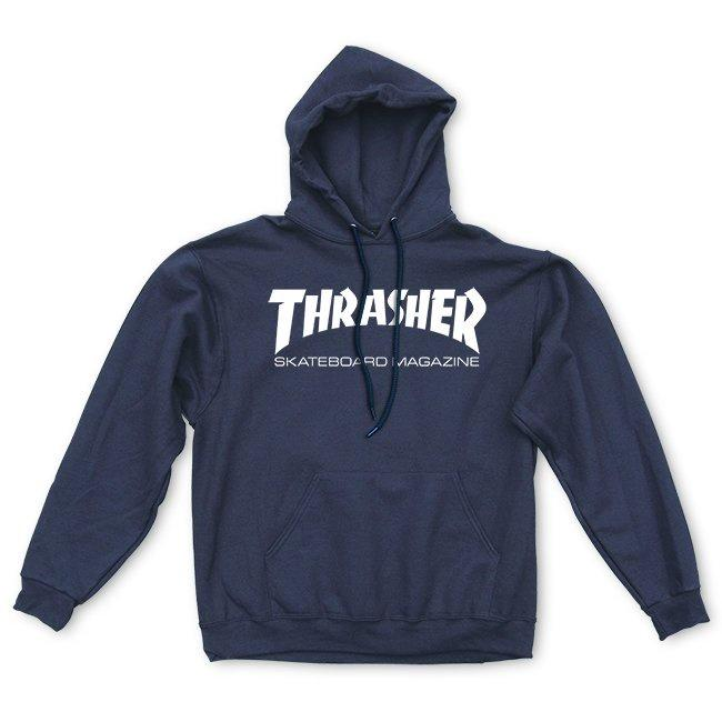 Thrasher Skate Mag Hoodie (Navy/White) Inventory Thrasher