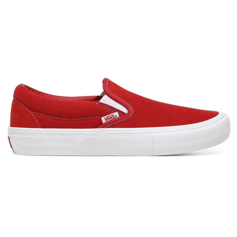 Vans Slip-On Pro (Suede Red/White) General Vans