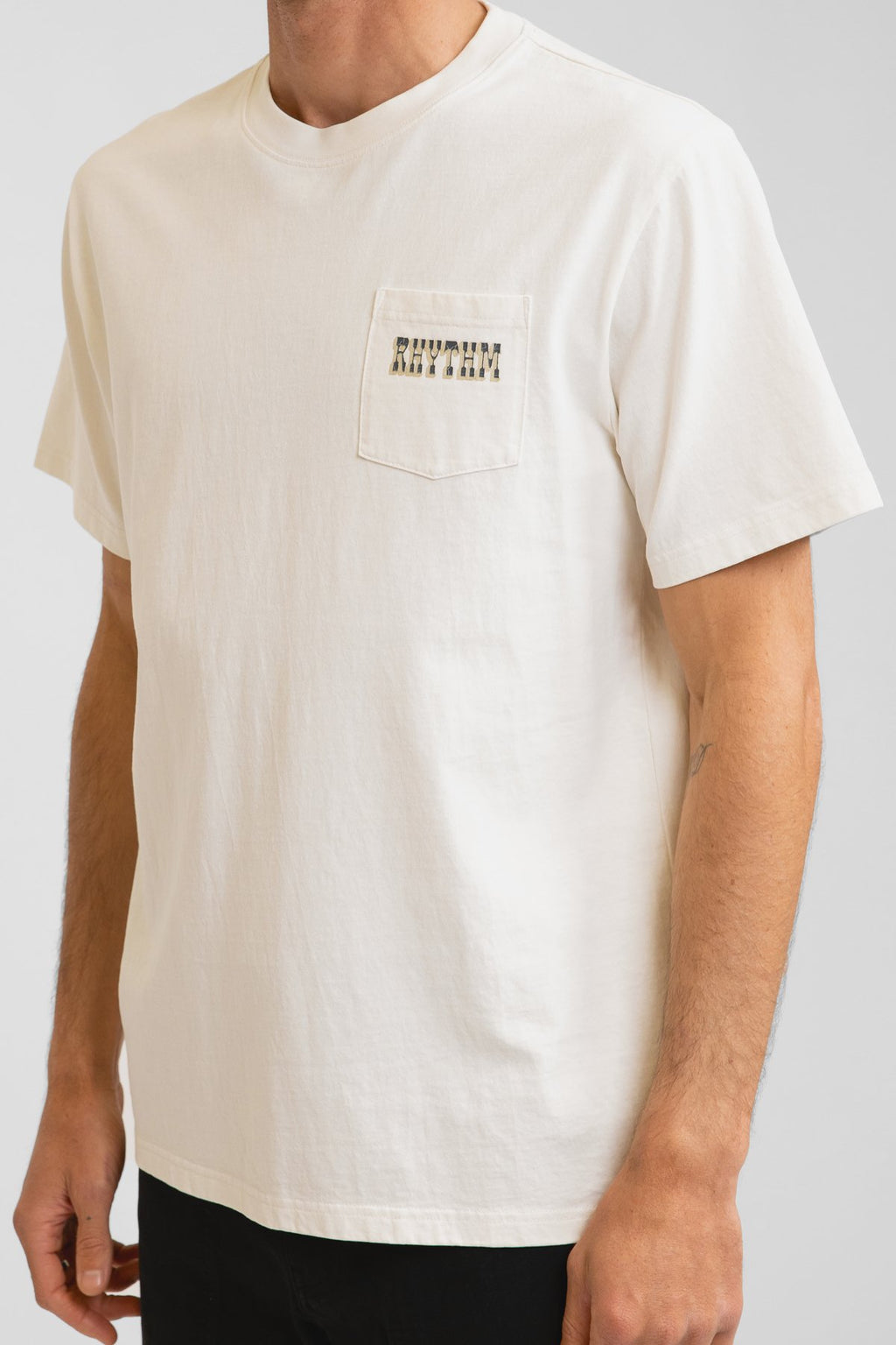 Western Pocket Tee Vintage White
