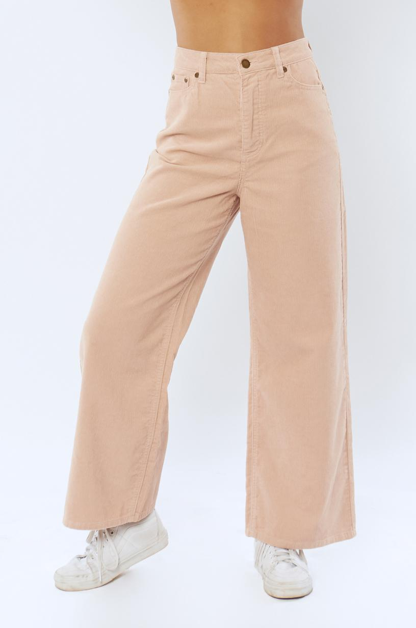 Poppy Woven Cord Pant Rose