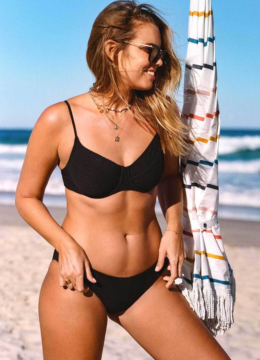 U/WIRE BRA BLACK CAPRI SEA - AKWA SURF
