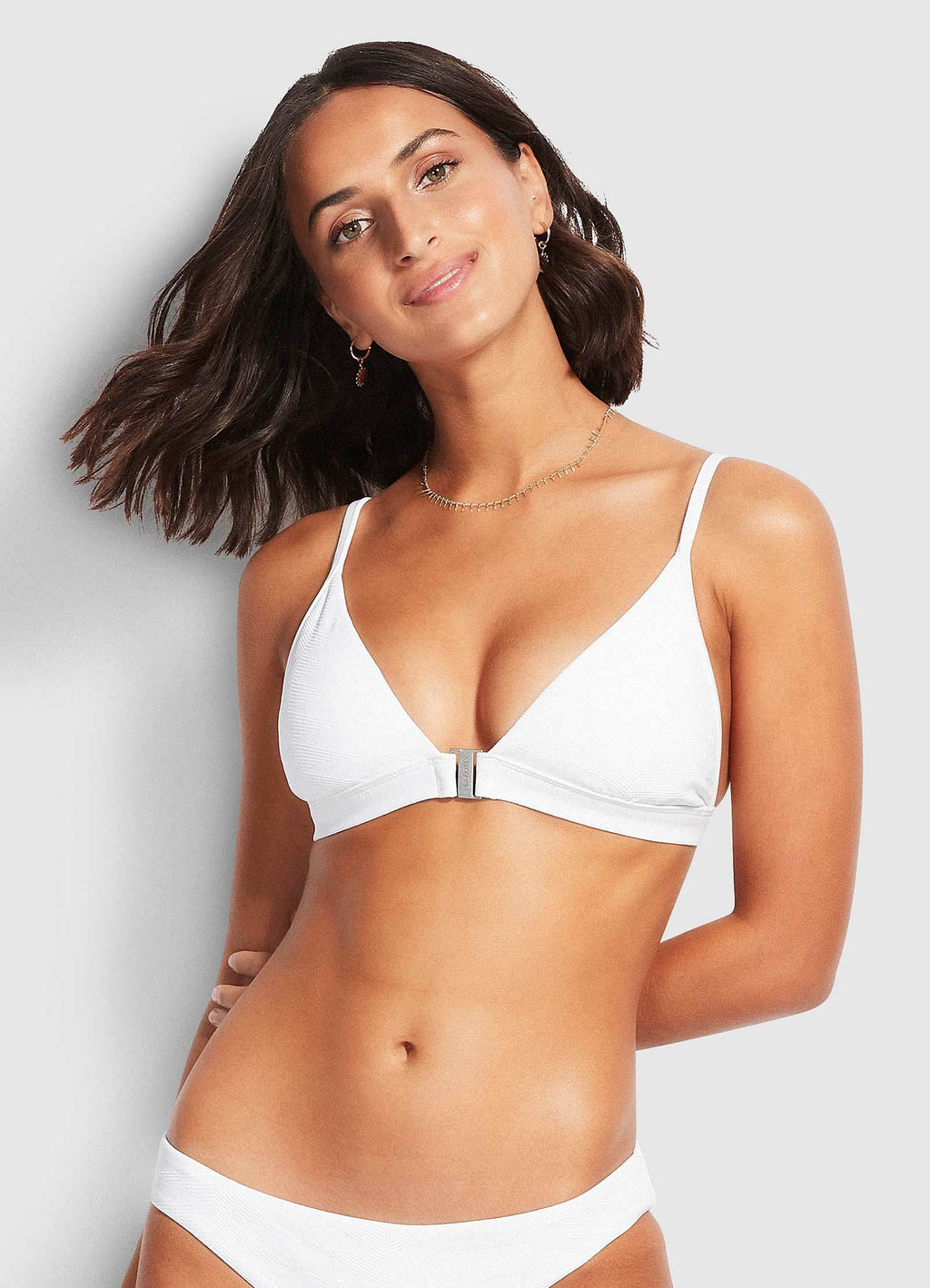 Seaside Soiree Fixed Tri Bra White