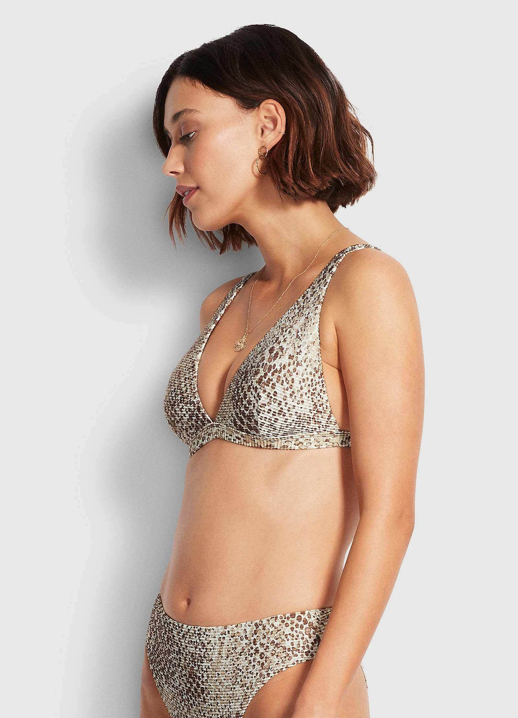 Serpentine Longline Tri Chocolate