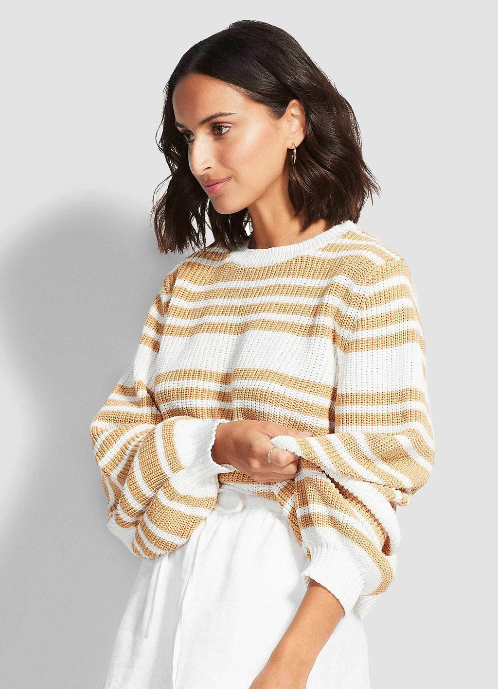 Sails Stripe Knit Beige