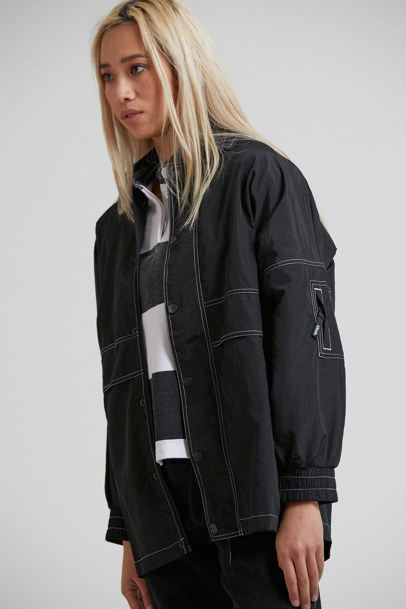 Faded Unisex Spray Jacket Black