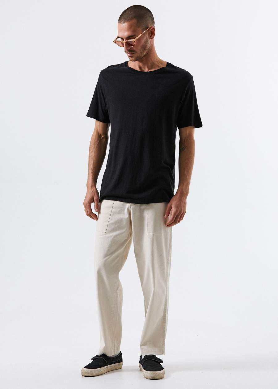 201 Chess Pant White Pant from Afends Relaxed Fit Hemp Pant Surf Shop Akwa Surf