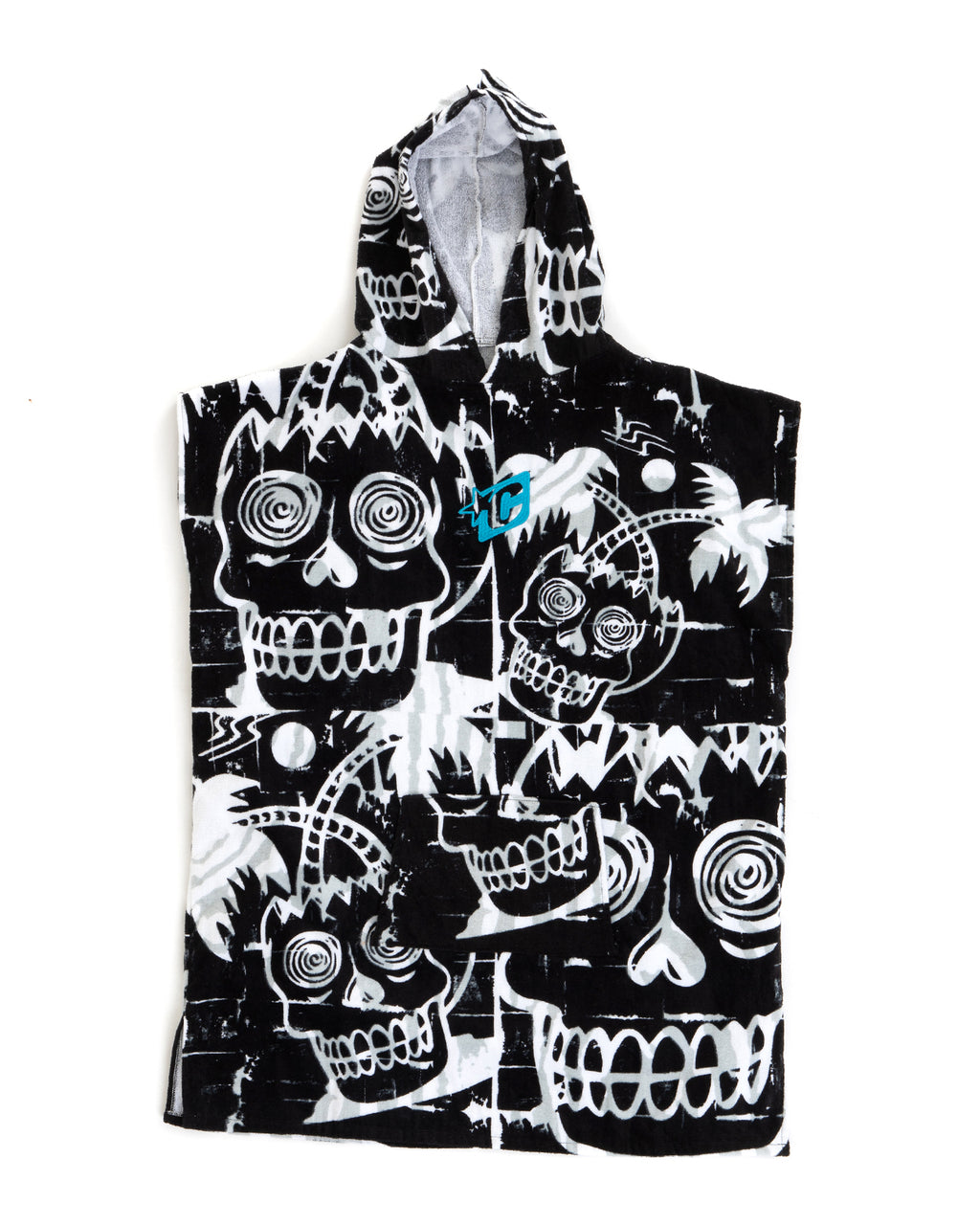 Grom Poncho Black White