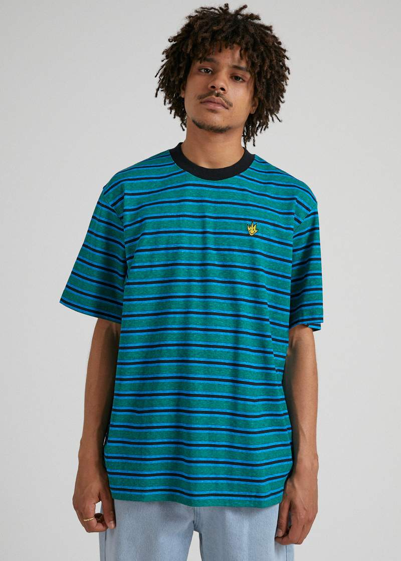 Tyler Hemp Stripe Retro Fit Tee Mully