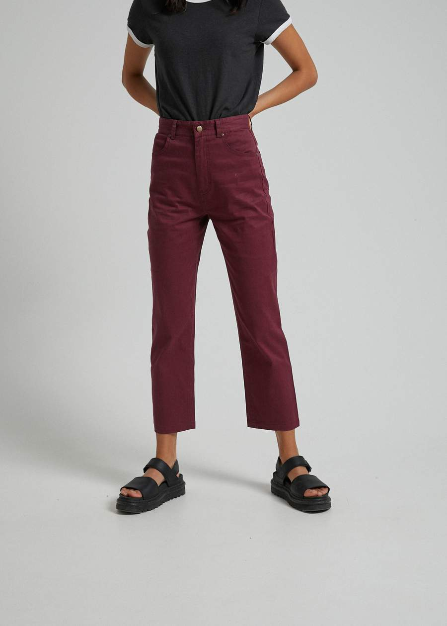 Shelby Twill High Waist Pants - AKWA SURF