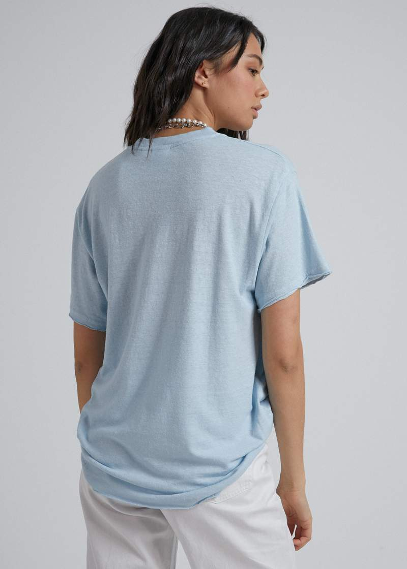Slay Hemp Oversized Tee Baby Blue