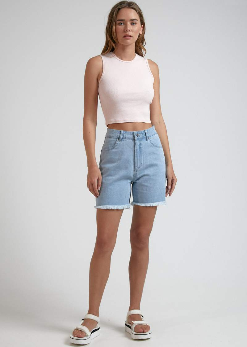 Shelby Hemp Denim Short Stone - AKWA SURF
