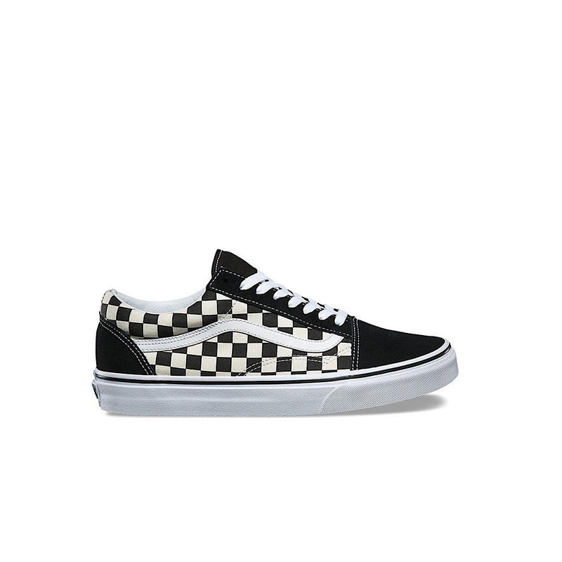 Old Skool Primary Check Black/White - AKWA SURF
