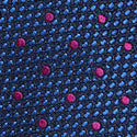 Load image into Gallery viewer, M.J.Bale Pink Dot Silk Tie