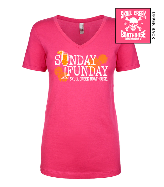 Ladies Sunday Funday V-Neck T