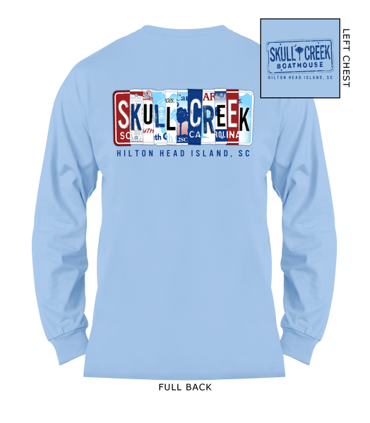 License Plate Long Sleeve Shirt