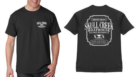 Full Moon Moonshine T-Shirt- Black