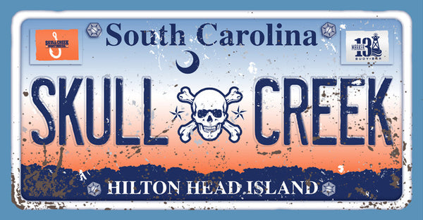 Skull Creek Carolina License Plate