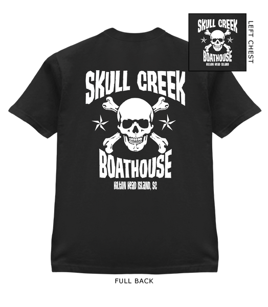 Youth SCB Skull T-Shirt- Black