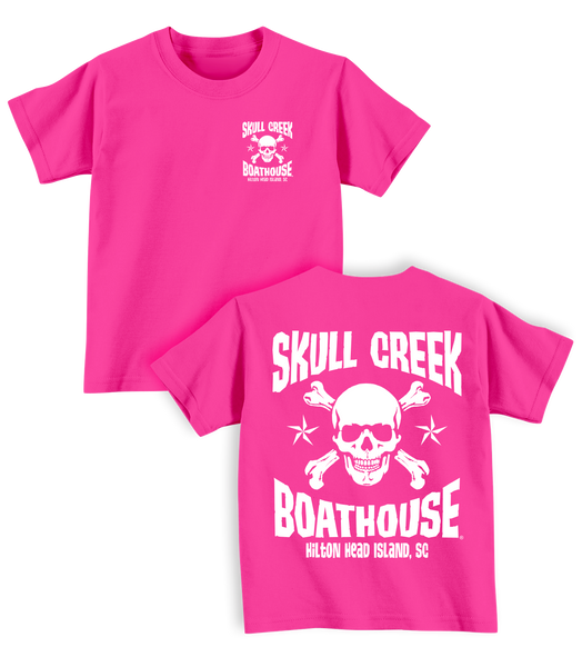 Toddler Skull T-Shirt- Pink