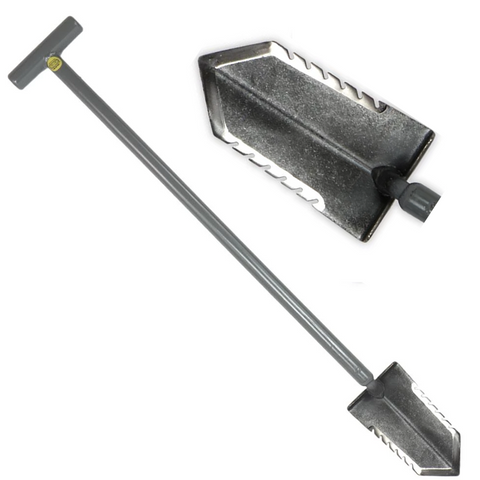 "Lesche T-Handle 31"" DOUBLE Serrated Blade Shovel for Metal Detecting"