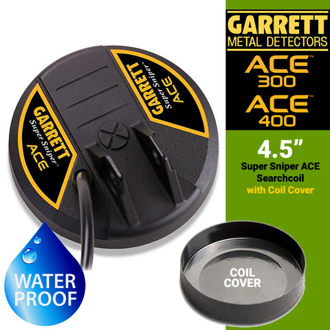 "Garrett ACE Series 4.5"" Super Sniper Search Coil with Cover for ACE 200, ACE 300 and ACE 400"