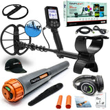 Nokta Simplex+ Waterproof Metal Detector with Wireless Headphones and Waterproof Pinpointer + Extras