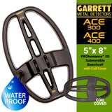 "Garrett ACE Series 5"" x 8"" DD PROformance Search Coil with Cover for ACE 200, ACE 300 and ACE 400"