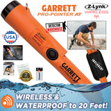 Garrett AT MAX with 2 COILS, Waterproof Headphones + FREE Pro-Pointer AT Z-Lynk Pinpointer