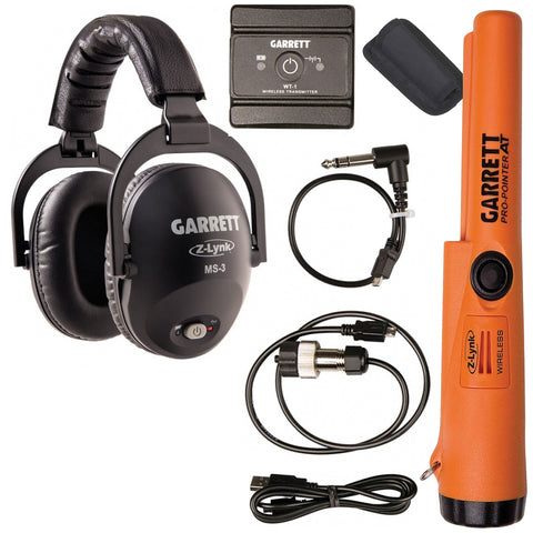 Garrett MS-3 Z-Lynk Wireless Headphone KIT for Garrett AT PRO with Pro-Pointer AT Z-Lynk Pinpointer