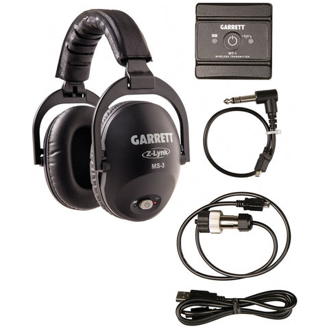 Garrett MS-3 Z-Lynk Wireless Headphone KIT for Garrett AT PRO