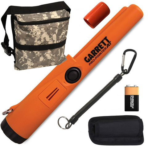 Garrett ProPointer AT Pinpointer with Camo Diggers Pouch
