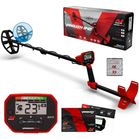 "Minelab Vanquish 340 Metal Detector with 10"" Coil"