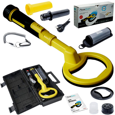 Nokta Makro PulseDive 2-in-1 Set Scuba or Snorkeling Metal Detector (YELLOW)