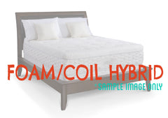 Luxury - Queen - Hybrid (Memory Foam/Pocketed Coils) Mattress