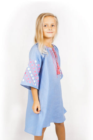 ZALXNDRA  KIDS REGINA DRESS LIGHT BLUE