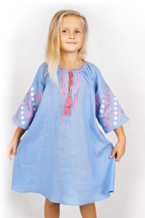 KIDS REGINA DRESS LIGHT BLUE