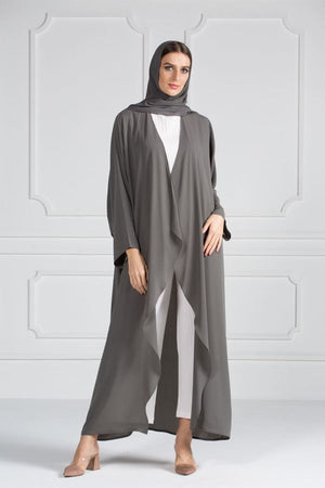 COLORED ABAYA ORDERS - Concrete (AM17)