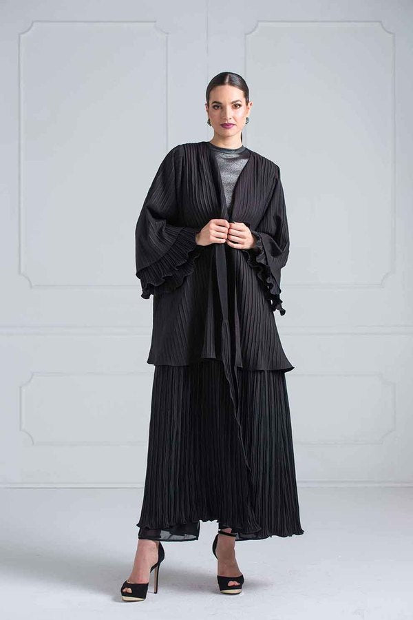 PLEATED ABAYA