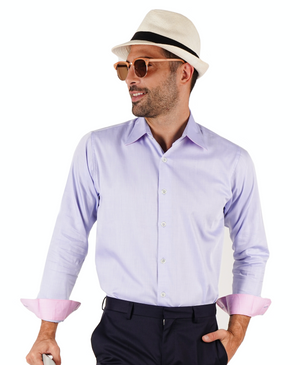 Two-Tone Twill Shirt