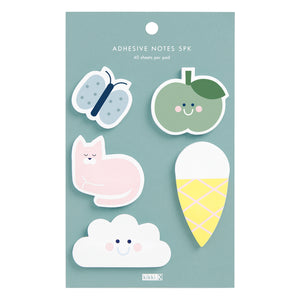 ADHESIVE NOTES 5PK CUTE