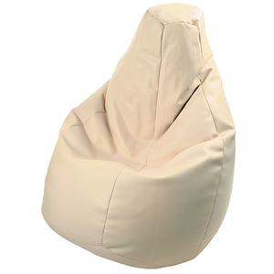 BEANBAG armchair LOLITA ECO LEATHER BEIGE