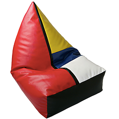 BEANBAG armchair PEGGY ECO LEATHER MONDRIAN