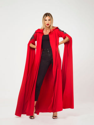 EMBROIDERED SHOULDER CAPE