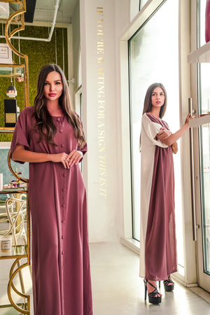 MIRANA LIGHT MAROON DRESS