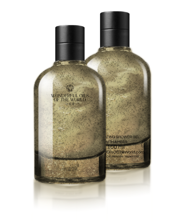 EXFOLIATING SHOWER & BATH  GEL WITH AMBER