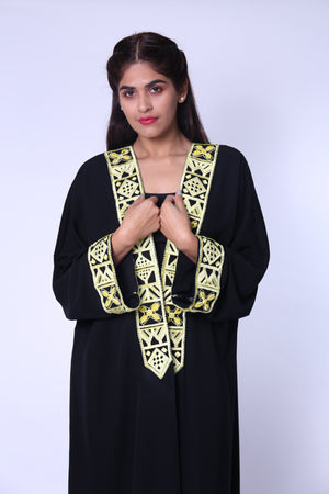 ABAYA PATTER BLOCKS YELLOW THREAD