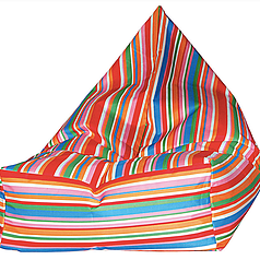 BEANBAG armchair PEGGY STRIPES